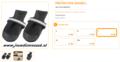Ferplast - Protective Schoen Zwart Large 2 Stuks