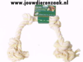 Hondenspeelgoed Floss-Toy Wit 4-Knoop